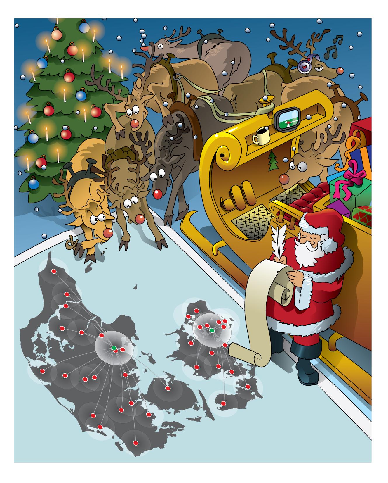 Christmas card by Sepiawolf