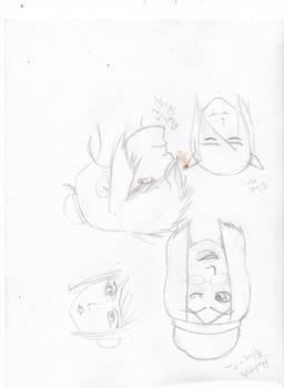 Iwaku-tan Preliminary sketch 1
