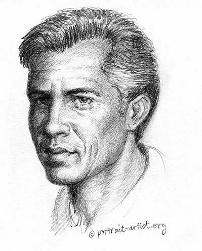 Pencil sketch man by bearsclover