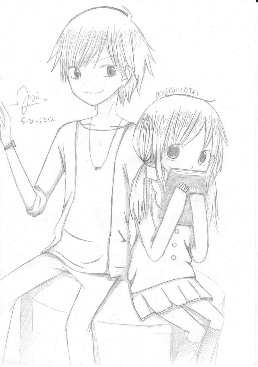 Couple Anime Drawing By ChizuruMihara On DeviantArt