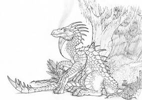 Armored Jungle Dragon by J-Ian-Gordon
