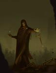 Half elf sorcerer commission
