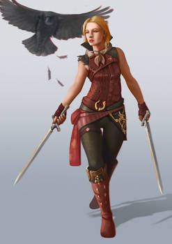 Character commission art for Katharina Haase