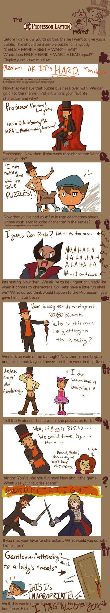 Professah Layton Meme woo by rosevixen