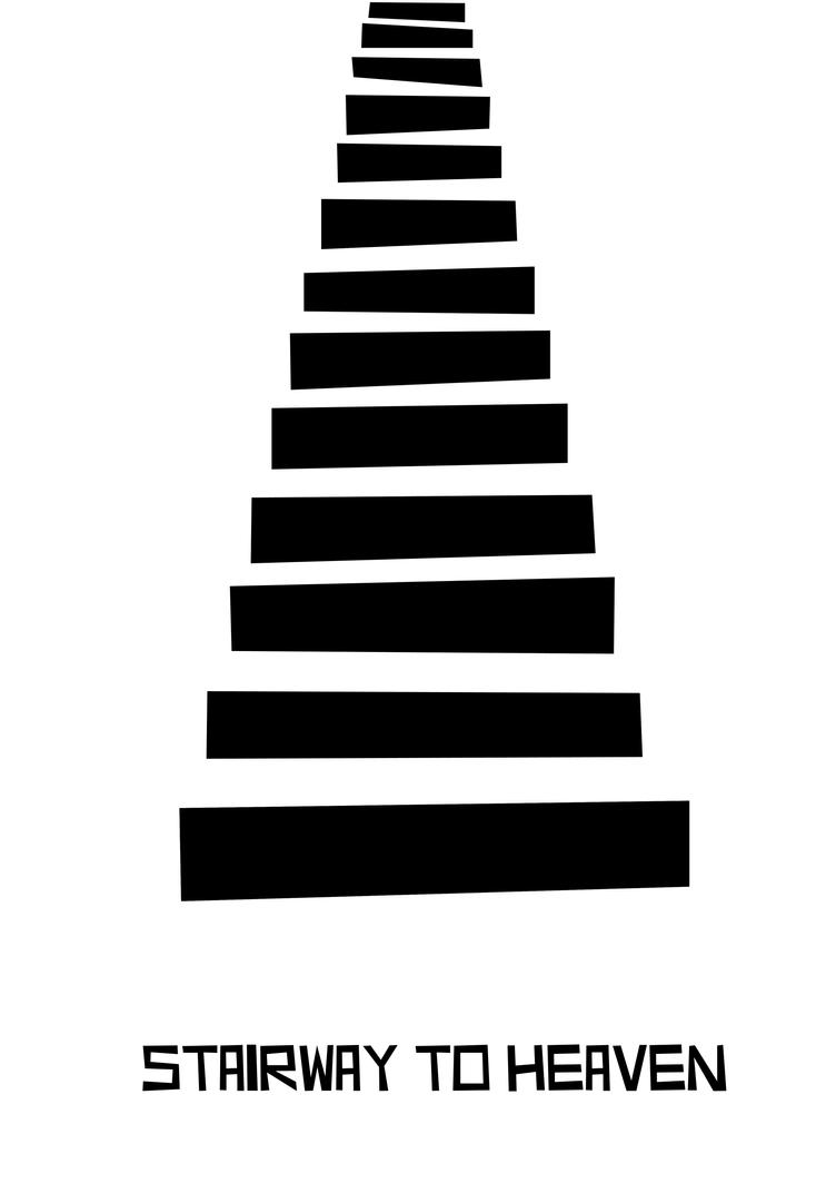 Stairway to heaven minimal art work by gmanishreddy on for Minimal art reddit