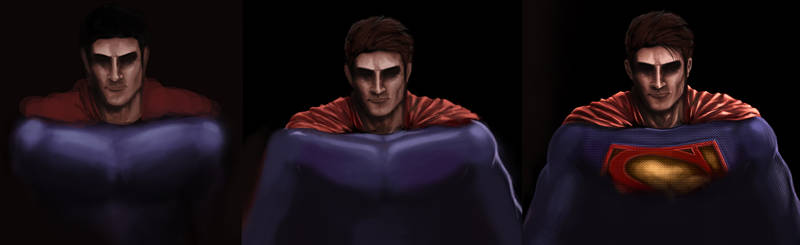 Superman Preview 3step Work in Progress