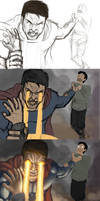 Superman Preview 3step Work in Progress 2