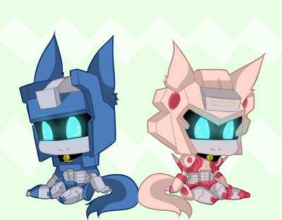 Neko Elita One and Chromia by Jovianwolfgirl