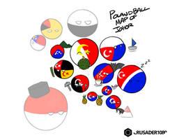 Polandball map of Johor