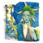 Gencia Hikari Getiana : Water color Head shot by DS-smile