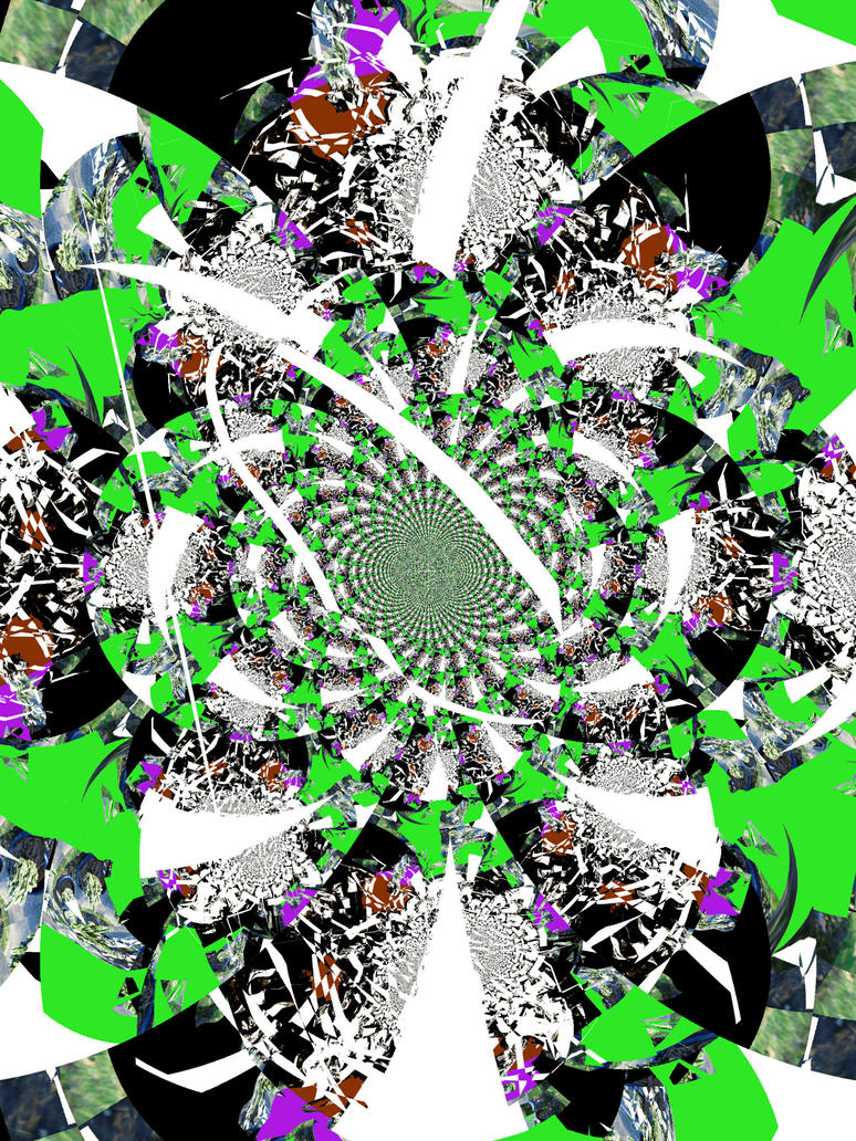 Abstract in Green and Black by Yessickart