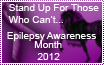 Epilepsy Awareness Month Stamp by reapper411