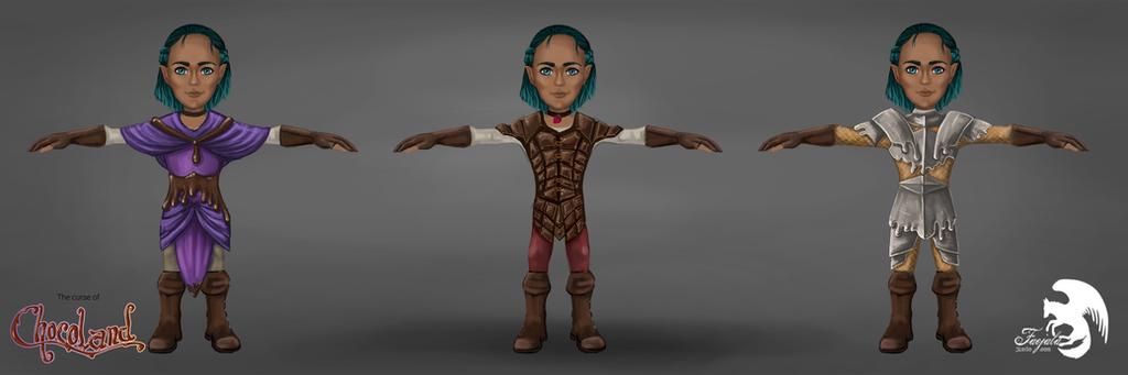 Chocoland - armor concept by Faejala