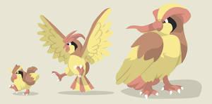 Pidgey+Pidgeotto+Pidgeot