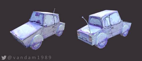 3D Watercolour Car by vandam1989