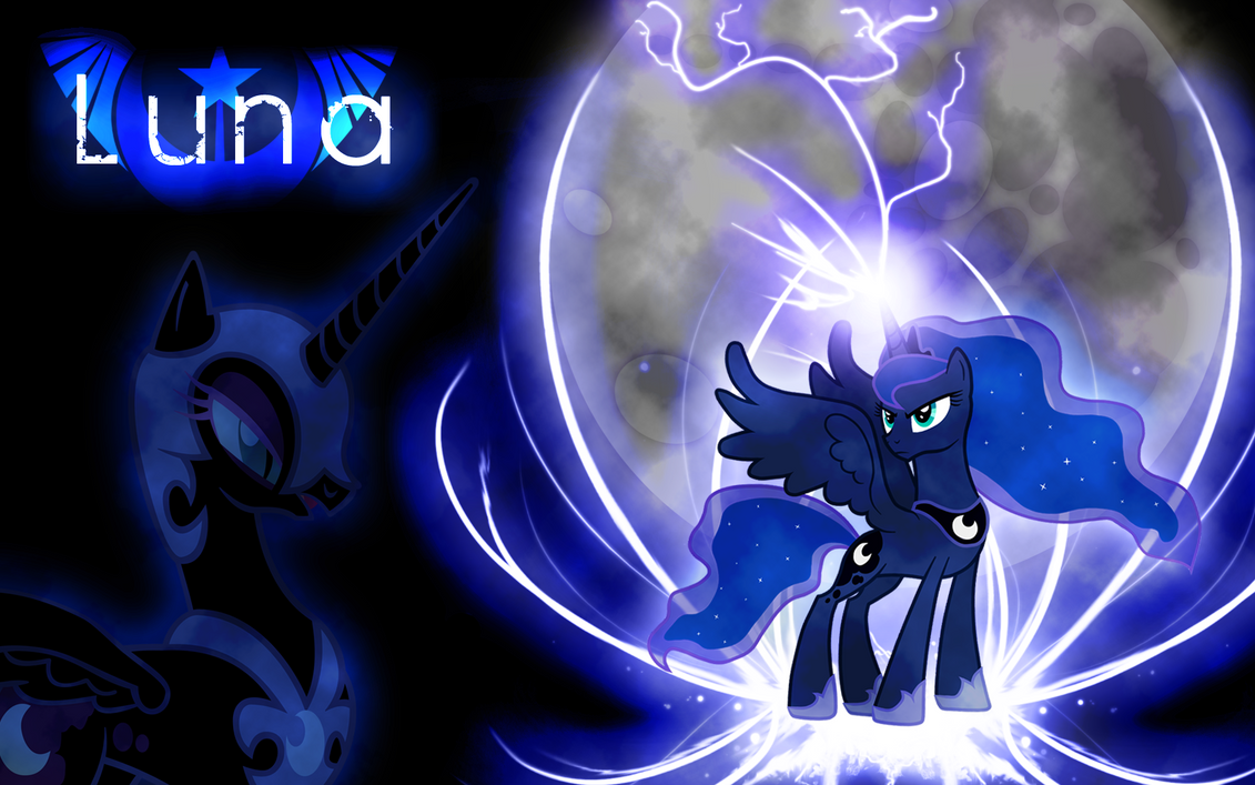 Princess Luna Wallpaper V.2 by Arakareeis