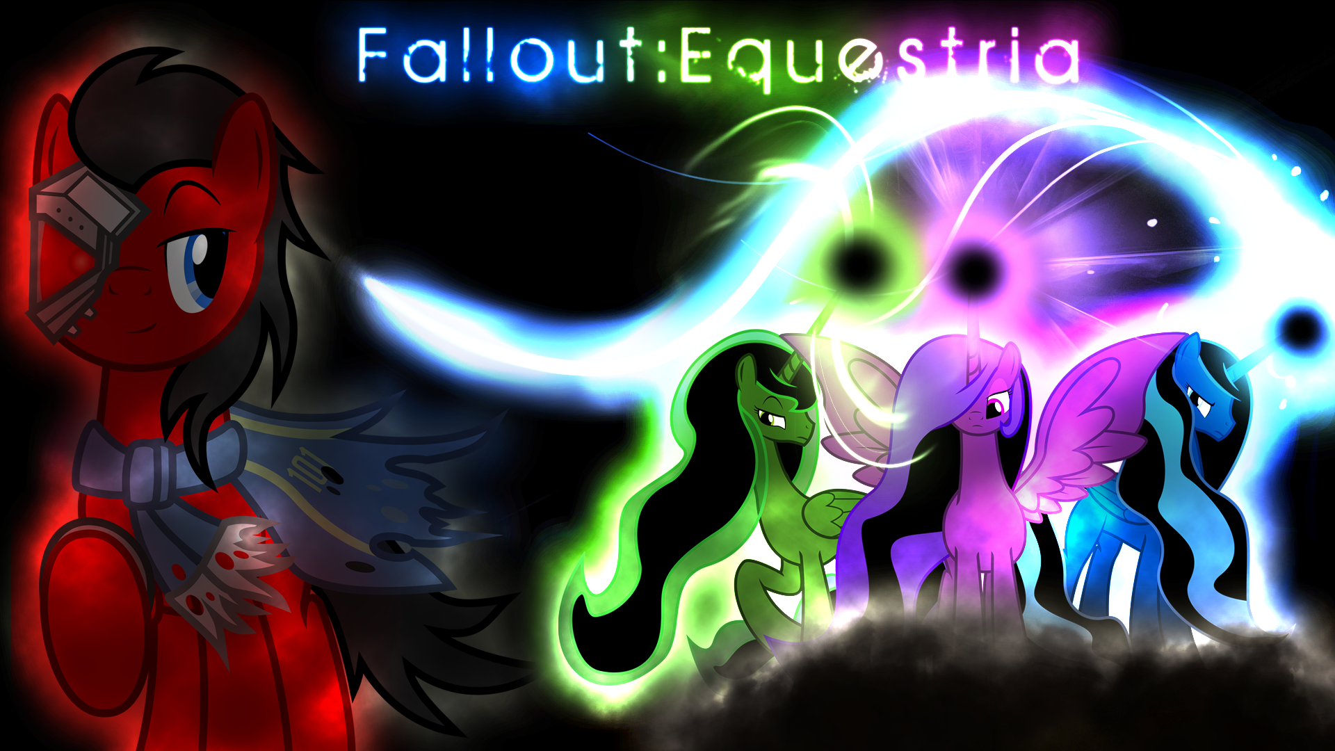 Fallout: Equestria Wallpaper by Arakareeis