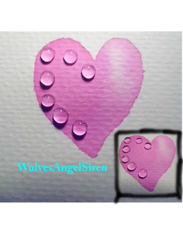 heart with drops