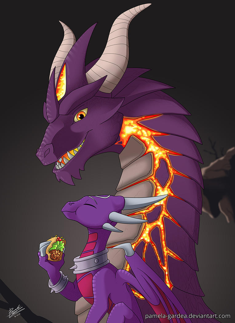 Malefor and Cynder by Pamela-Gardea on DeviantArt