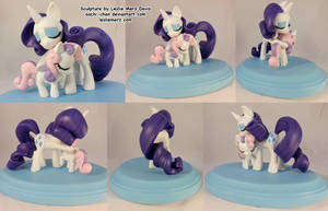 Rarity And Sweetie Belle Hug by aachi-chan