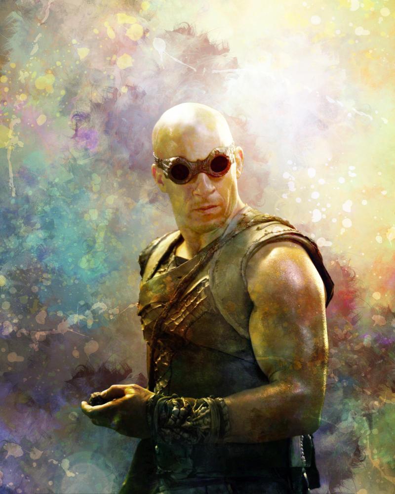 Richard B. Riddick Portrait by crimsonvermillion