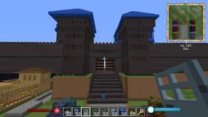 MinecraftGateHouse by crimsonvermillion