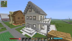 MineCraftSkystoneHouse