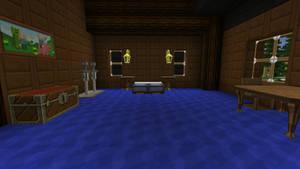 Minecraft Inn and Horse Barn Interior Bed Room