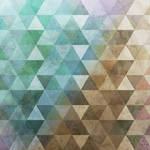 Triangles Teal Brown by crimsonvermillion