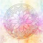 Mandala 32 Color Embossed