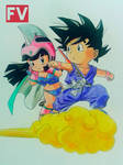 Dragonball - goku and chi chi by FVentura