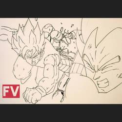 Dragon Ball Z - Goku and Vegeta vs Cooler by FVentura