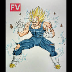 Dragon Ball Z - Majin Vegeta by FVentura
