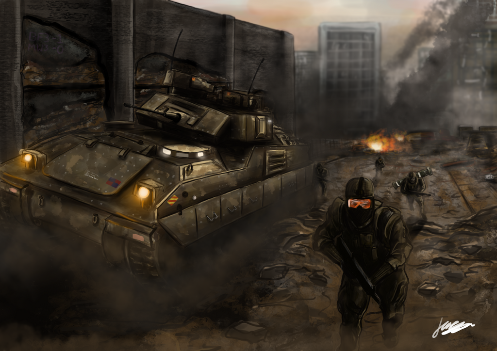 Battlefield 3 Speedpaint by jkasapi