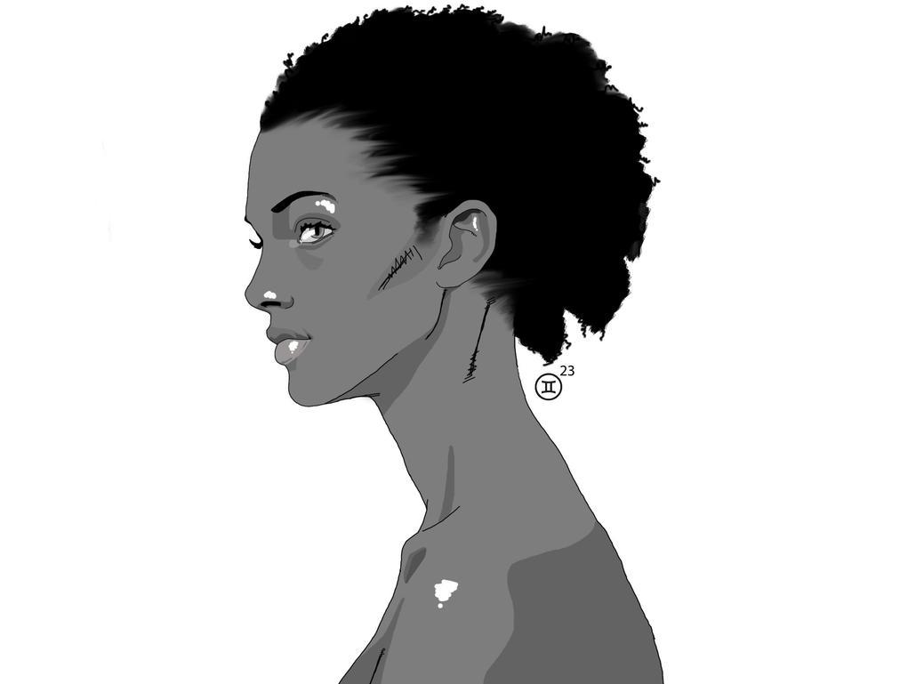 Black And White Female by Razor-Alphabid
