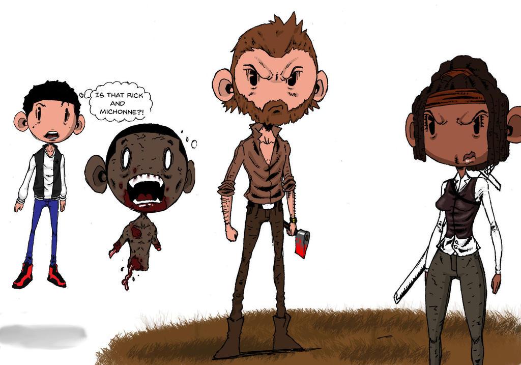 The Walking Dead's Rick and Michonne by Razor-Alphabid