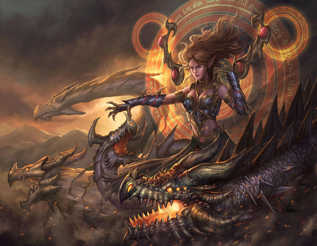 Dragon Lady by HappySadCorner