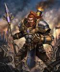Steampunk Warrior : Droyn the Sparklance by HappySadCorner