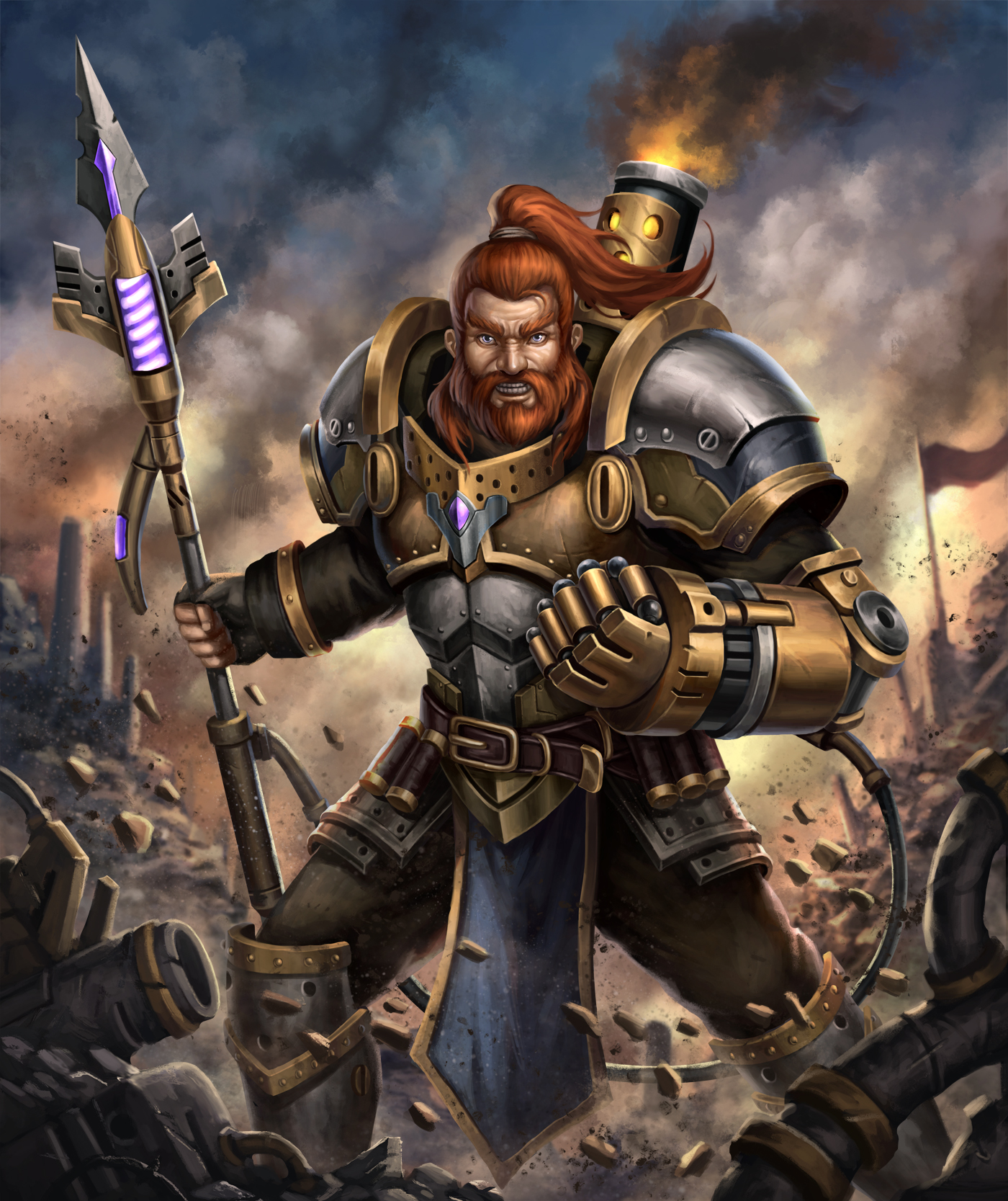 Steampunk Warrior : Droyn the Sparklance by HappySadCorner ...