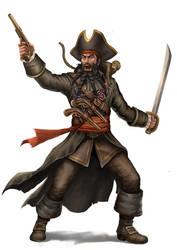 Blackbeard Pirate by HappySadCorner