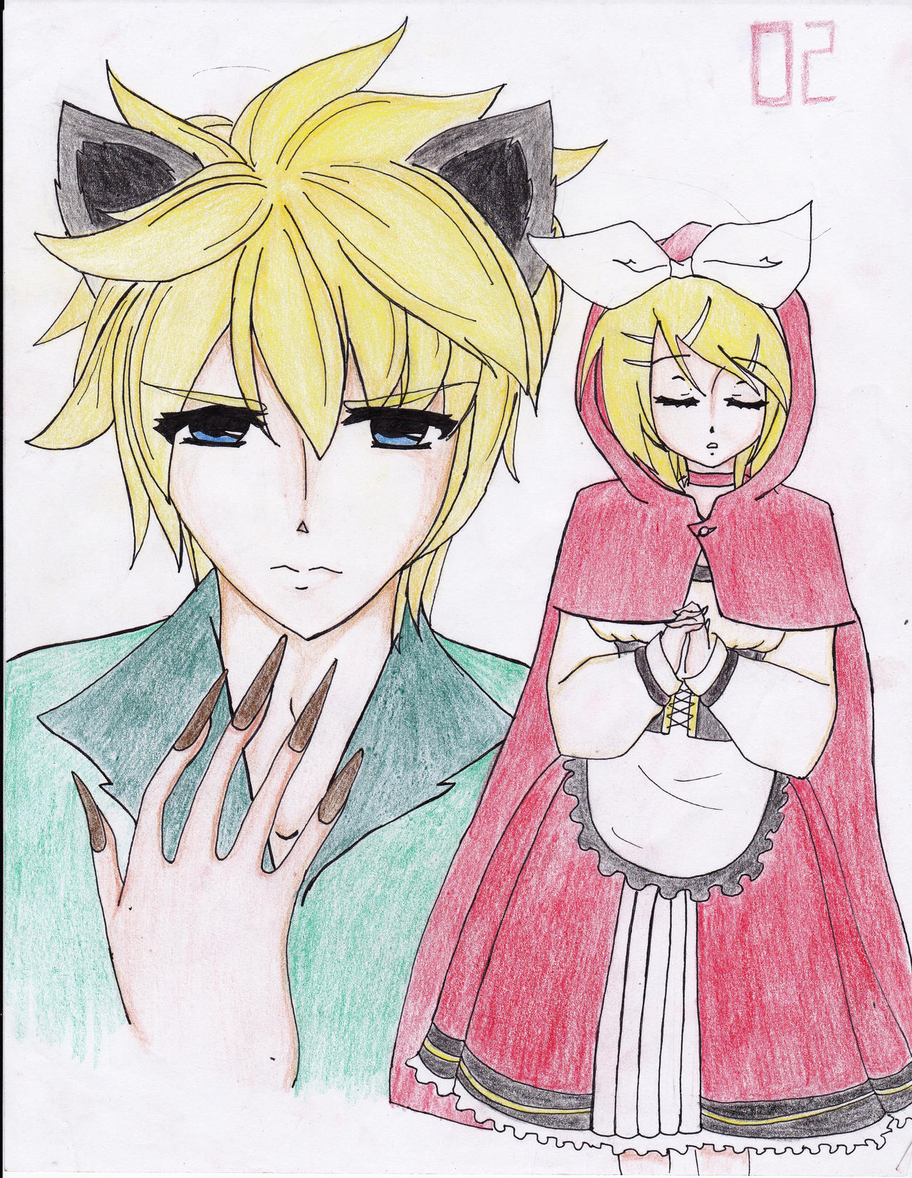 Little red riding hood and wolf anime gallery the wolf and little red riding hood by hazel98 on deviantart sciox Choice Image