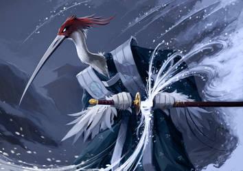 L5R Crane Samurai by WildjamDraws