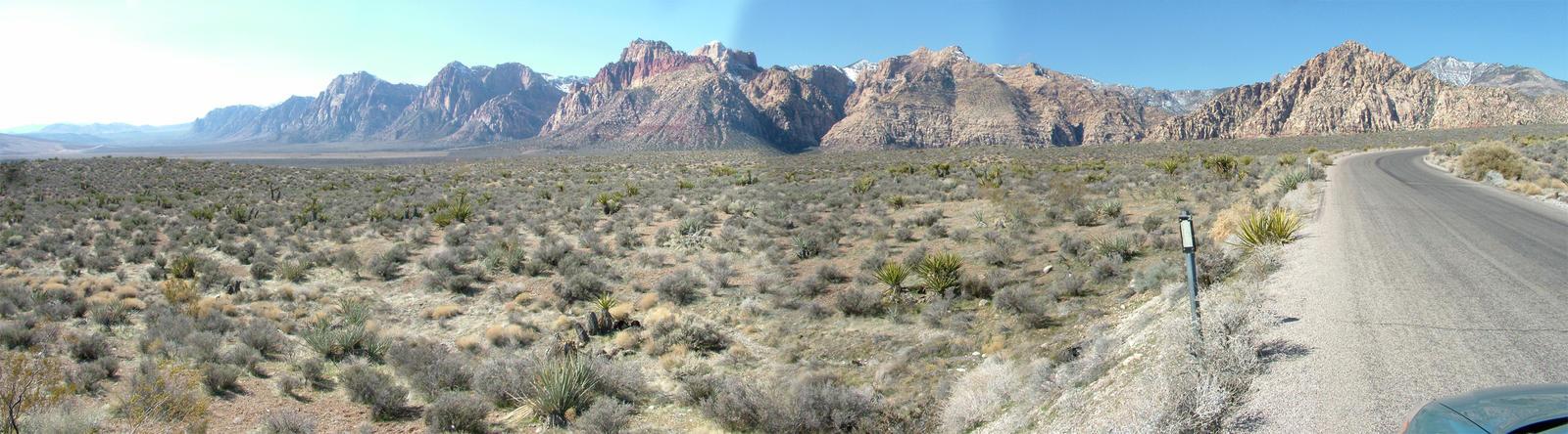 Red Rock Canyon Pano by mackdj