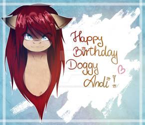 Happy Birthday DoggyAndi! - MLP OC