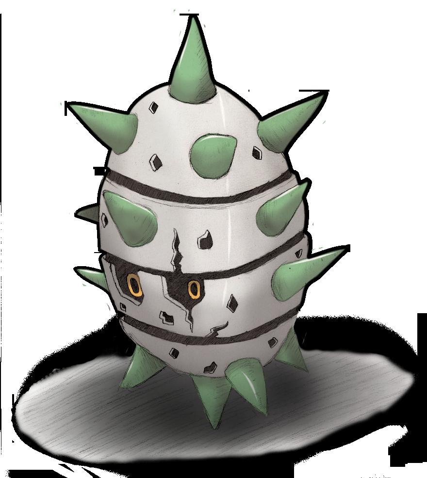 Spike the Ferroseed! by Seed-eyes