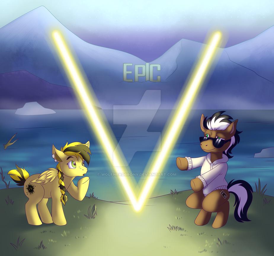 Epic V Maroon 5 Album Cover Spoof Thing by WolfHeadBrony