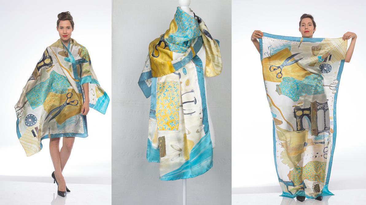 Dressmakers Atelier Satin shawl by pilemy