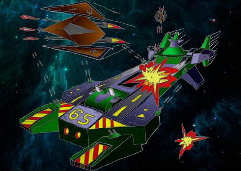 TCS Concordia Under Attack - Coloured