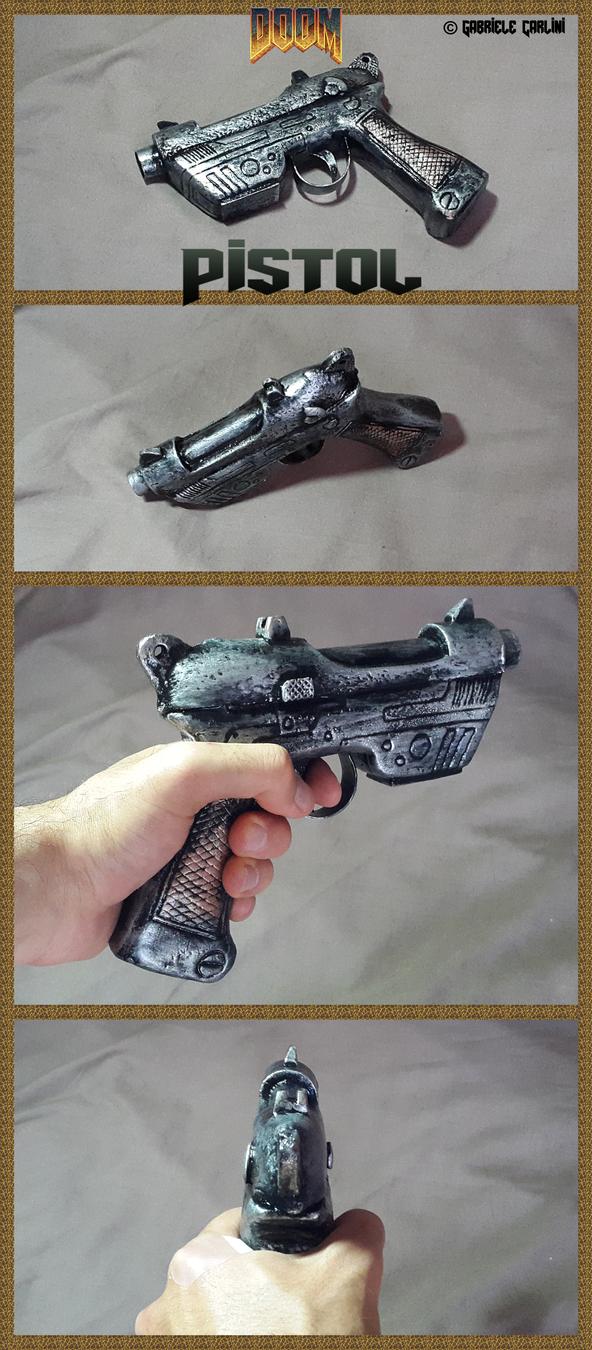 Classic Doom Pistol Prop Gun by gabruele
