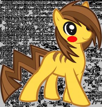 Pikachu As A Pony!! :) by wolfiegocheep